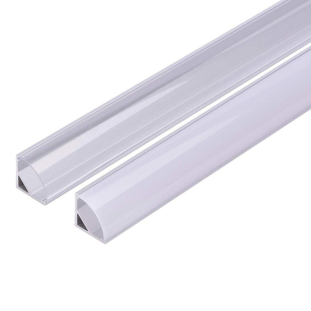 Profilo in Alluminio Angolare 90 Gradi da 2 Metri Bombato