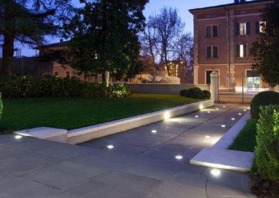 Recessed floor light fixture / LED / square / outdoor