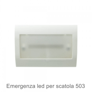 Emergenza LED 2W compatibile con scatola 503 anti black out
