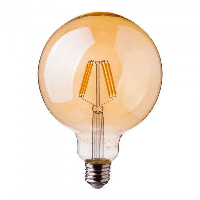 lampadina LED Filamento Vintage G125 E27 6W