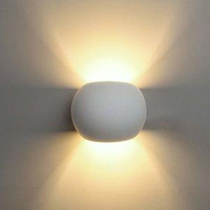 Applique Sfera in Gesso Ceramico – Luce Diffusa ideale...