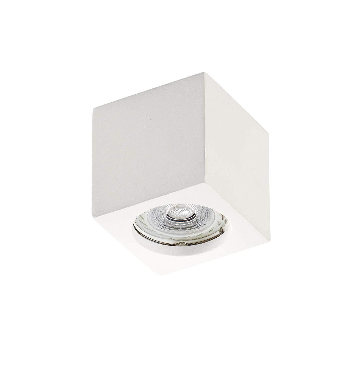 Lampada da soffitto Cubo in gesso ceramico GU10 H 75mm