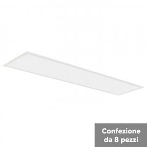 Confezione da 8 pannelli LED 40W 120x30cm 3000 lm 120º 3000...
