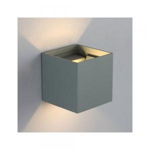 Applique da parete Cubo Grigio LED 12W Regolabile IP65