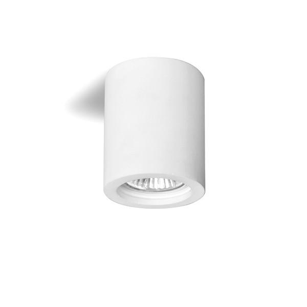 Lampada da soffitto Cilindro in gesso ceramico GU10 H 90mm