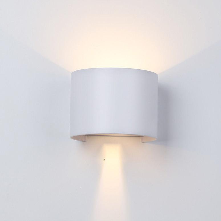 Applique da parete Cilindro Bianco LED 6W Regolabile IP65