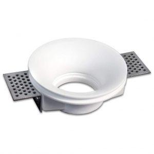 Portafaretto Incasso Tondo Conico in gesso ceramico