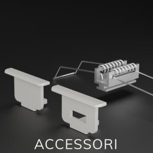 Accessori per Profili in Alluminio incasso da cartongesso