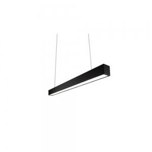 Lampada lineare da sospensione 40W nero 3000K o 4000K 120cm