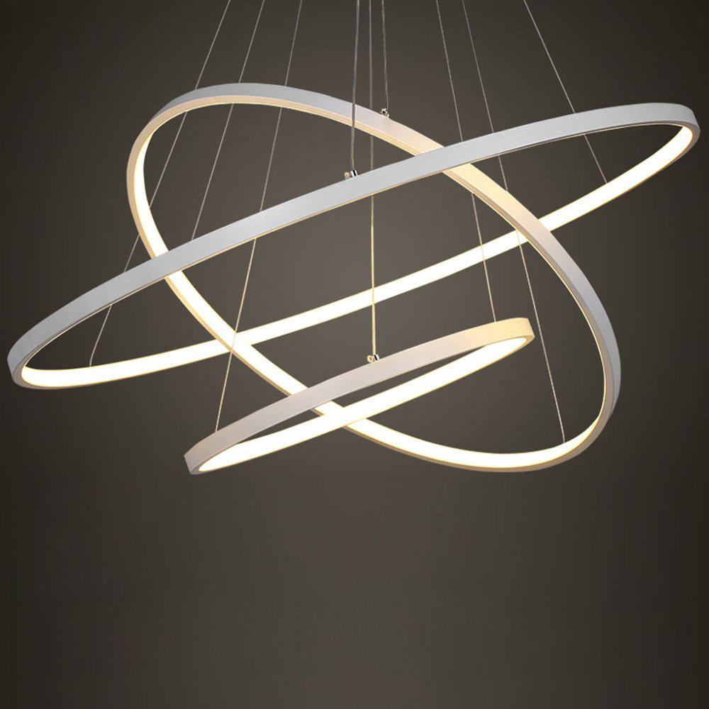 Eurekaled - Lampadario a sospensione LED moderno 3 anelli