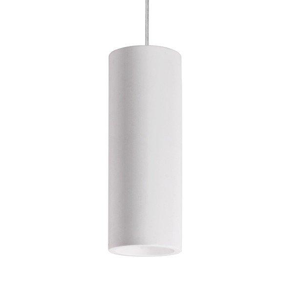 Lampada a Sospensione Cilindro in gesso ceramico GU10 H 25mm