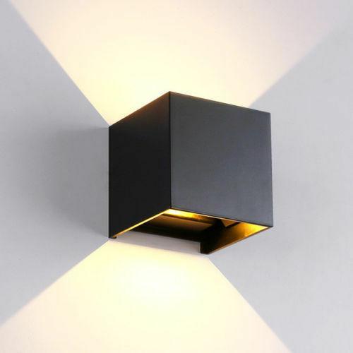 Applique da parete Cubo Nero LED 6W Regolabile IP65